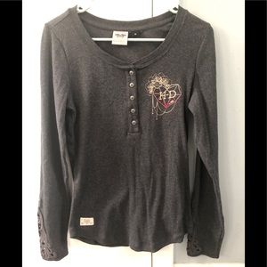Harley Davidson Love and Let Ride thermal Henley